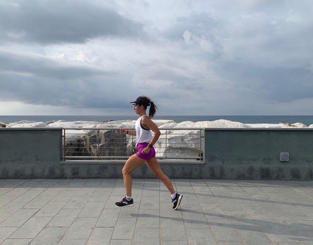 Il bisogno di tornare a correre, il mare e le nuove Brooks Glycerin 17
